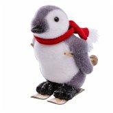 Deko-Figur Pinguin Uwe Weiß/Grau