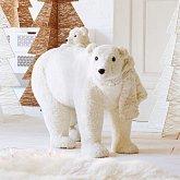 Deko-Figur Eisbären Weiß