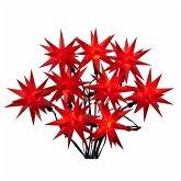 LED-Lichterkette 3D-Sterne Rot