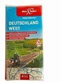 Motorradkarten Set Deutschland West