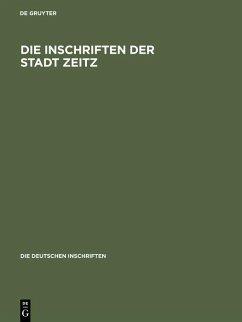 Die Inschriften der Stadt Zeitz (eBook, PDF)