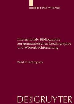 Internationale Bibliographie zur germanistischen Lexikographie und Wörterbuchforschung. Register (eBook, ePUB)