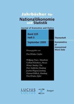 Econometrics of Anonymized Micro Data (eBook, PDF)