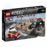 LEGO® Speed Champions 75894 Rallyeauto 1967 Mini Cooper S und Buggy 2018 Mini John Cooper Works