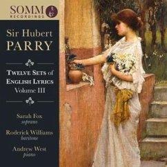 Twelve Sets Of Eglish Lyrics Vol.3 - Fox,Sarah/Williams,Roderick/West,Andrew