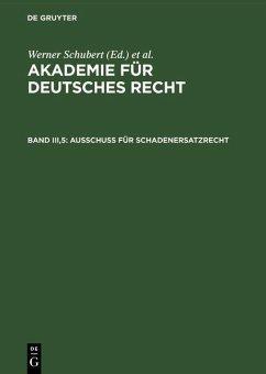 Ausschuß für Schadenersatzrecht (eBook, PDF)