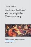 Muße und Erzählen: ein poetologischer Zusammenhang (eBook, PDF)