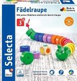 Selecta 63005 - Fädelraupe, Würfel- und Fädelspiel, Lernspiel, Holz