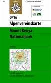 Alpenvereinskarte Mount Kenya Nationalpark