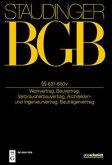 Staudingers Kommentar BGB §§ 631-651 (Werkvertragsrecht)