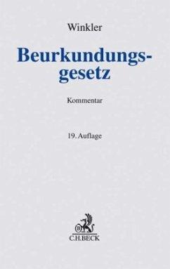 Beurkundungsgesetz - Winkler, Karl