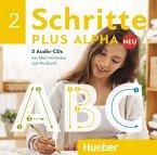 2 Audio-CDs zum Kursbuch / Schritte plus Alpha Neu .2