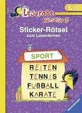 Sticker-Rätsel zum Lesenlernen (3. Lesestufe) (Mängelexemplar)