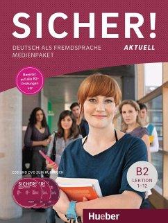 Sicher! aktuell B2, 2 Audio-CDs und 1 DVD zum Kursbuch - Perlmann-Balme, Michaela; Schwalb, Susanne