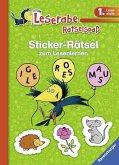 Sticker-Rätsel zum Lesenlernen (1. Lesestufe), grün (Mängelexemplar)