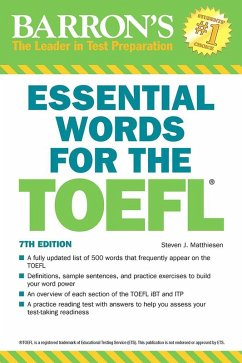 Essential Words for the TOEFL (eBook, ePUB) - Matthiesen, Steven J.