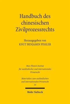 Handbuch des chinesischen Zivilprozessrechts (eBook, PDF)