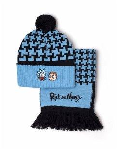 Rick and Morty Set Mütze (Beanie) und Schal