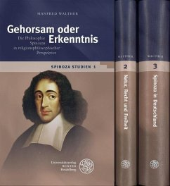 Spinoza-Studien - Walther, Manfred