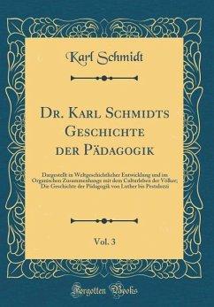 Dr. Karl Schmidts Geschichte der Pädagogik, Vol. 3 - Schmidt, Karl