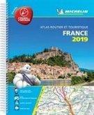 France 2019 -Tourist & Motoring Atlas A4 Laminated Spiral