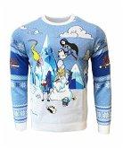 Adventure Time: Festive Winter Xmas Pullover, Größe M, Strickpullover