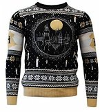 Harry Potter: Hogwarts Castle Candle Lights Xmas Pullover, Größe L, Strickpullover