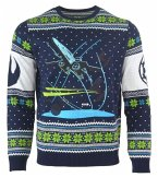 Star Wars X-Wing: Battle of Yavin, Xmas Pullover, Größe M, Strickpullover