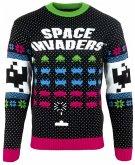 Space Invaders Xmas Pullover, Größe L, Strickpullover