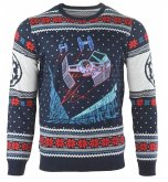 Star Wars Tie Fighter: Battle of Yavin, Xmas Pullover, Größe S, Strickpullover