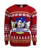 Sonic the Hedgehog Xmas Pullover, Größe XL, rot, Strickpullover