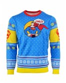 Superman 'Bad Guys Get Coal', Xmas Pullover, Größe L, Strickpullover