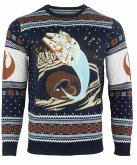 Star Wars: Space Slug Escape, Xmas Pullover, Größe L, Strickpullover