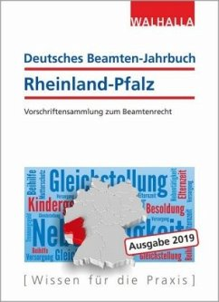 Deutsches Beamten-Jahrbuch Rheinland-Pfalz Jahresband 2019 - Walhalla Fachredaktion