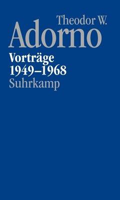 Nachgelassene Schriften. Abteilung V: Vorträge und Gespräche - Adorno, Theodor W.