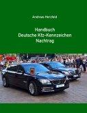 Handbuch Deutsche Kfz-Kennzeichen Nachtrag