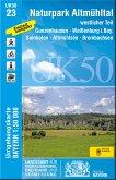 Topographische Karte Bayern Naturpark Altmühltal westlicher Teil