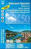 Topographische Karte Bayern Naturpark Spessart südlicher Teil