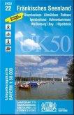 Topographische Karte Bayern Fränkisches Seenland