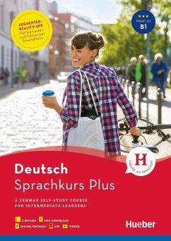 Sprachkurs Plus Deutsch B1, Englische Ausgabe. Buch mit Audios und Videos online, App, Online-Übungen und Begleitbuch - Hohmann, Sabine