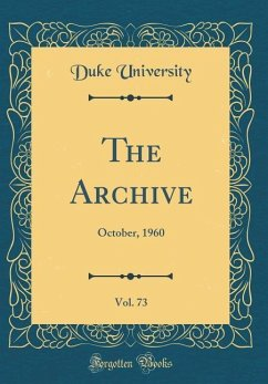 The Archive, Vol. 73: October, 1960 (Classic Re...