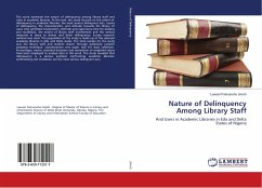 Nature of Delinquency Among Library Staff