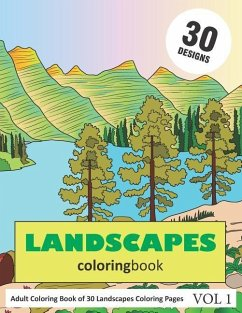 Landscapes Coloring Book: 30 Coloring Pages of ...