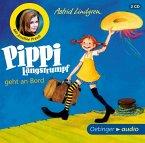 Pippi Langstrumpf geht an Bord, 2 Audio-CDs (Mängelexemplar)