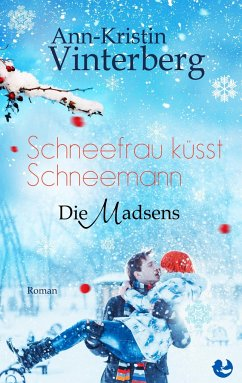 Schneefrau küsst Schneemann