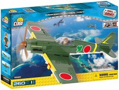 Cobi 5520 - Small Army, Kawasaki KI-61-I Hien Tony, Einsitzer-Jagdflugzeug, Konstruktionsspielzeug, Bausatz, 260 Teile
