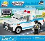 Cobi 1546 - Action Town, Police Car, Polizeiauto, Konstruktionsspielzeug, Bausatz, 100 Teile