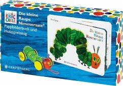 Die kleine Raupe Nimmersatt - Geschenkset Pappbilderbuch mit PlanToys®-Holzraupe - Carle, Eric
