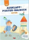 Kreativ Kids Ausklapp-Poster-Malbuch Ritter