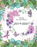 2019-2021 Monthly Three Year Planner: Butterfly and Floral Cover for 36 Months Planner and Calendar 8 X 10